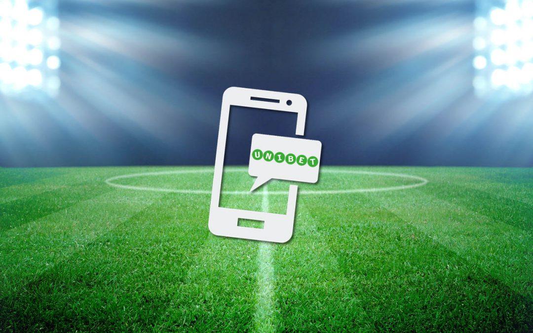 1. spil fra mobil enhed, giver et risikofrit spil hos Unibet