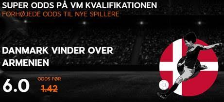 Super odds på Danmark i VM kvalifikation